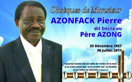 Famille feu AZONFACK Pierre : Remerciements