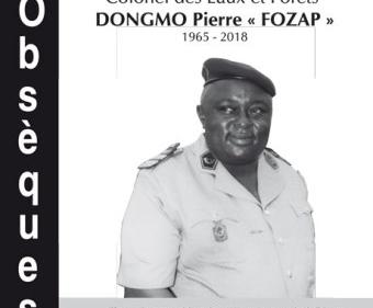 Avis de décès et programme des obsèques du Colonel des Eaux et Forêts DONGMO Pierre « Fozap » 1965-2018