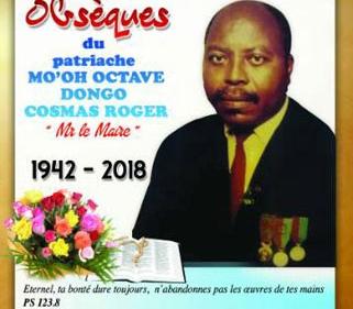 Avis de décès et programme des obsèques de Mo'oh Octave DONGO Cosmas Roger