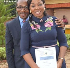 Mme GUIMEZAP JIOFACK Claire Lafortune épse CHOUKEM première femme à avoir soutenue une thèse en Contrôle de Gestion au Cameroun