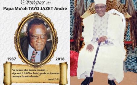 Avis de décès et programme des obsèques de Papa Mo'oh Tayo JAZET André