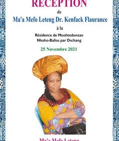 Invitation de Ma'a Mefo Leteng Dr KENFACK Flaurance