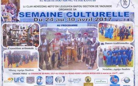 Mendzong Mefo'oh Leuguhem Bafou section de Yaoundé : invitation à sa semaine culturelle