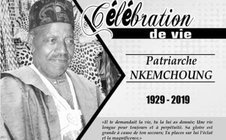 Avis de décès et programme des obsèques du Patriarche NKEMCHOUNG