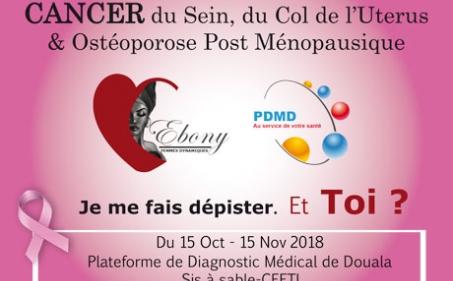 PDMD : Campagne de dépistage des cancers du sein, du col de l'utérus et de l'ostéoporose post ménopausique