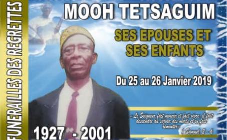 Faire-part funérailles des regrettés Moh TETSAGUIM, ses épouses et ses enfants