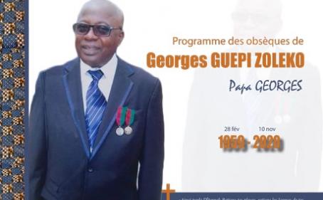 Programme des obsèques de Georges GUEPI ZOLEKO (Papa Georges)